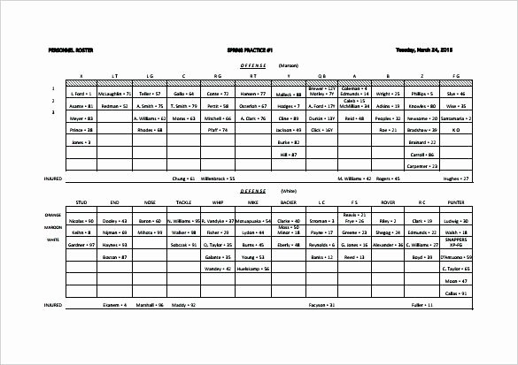 Blank Football Playbook Template Awesome Play Sheet