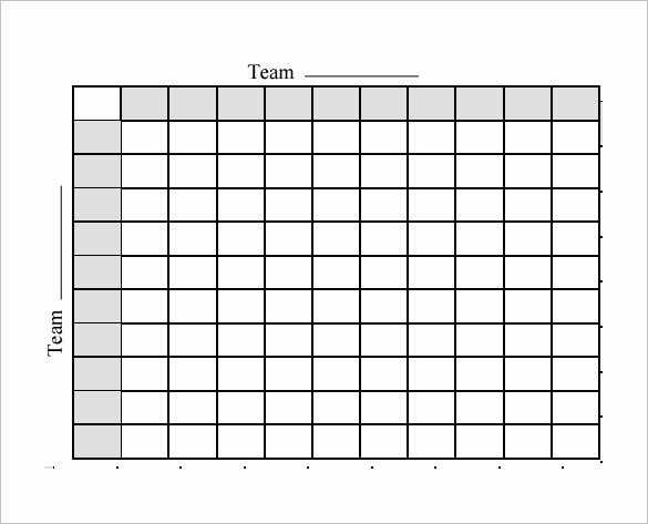 Blank Football Squares Template Invitation Template