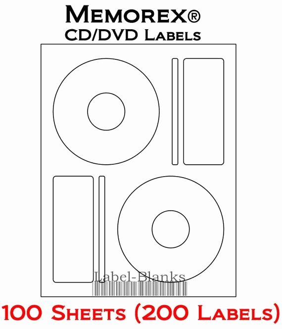 Blank Laser Ink Jet Labels for Cd or Dvd 100 Sheets