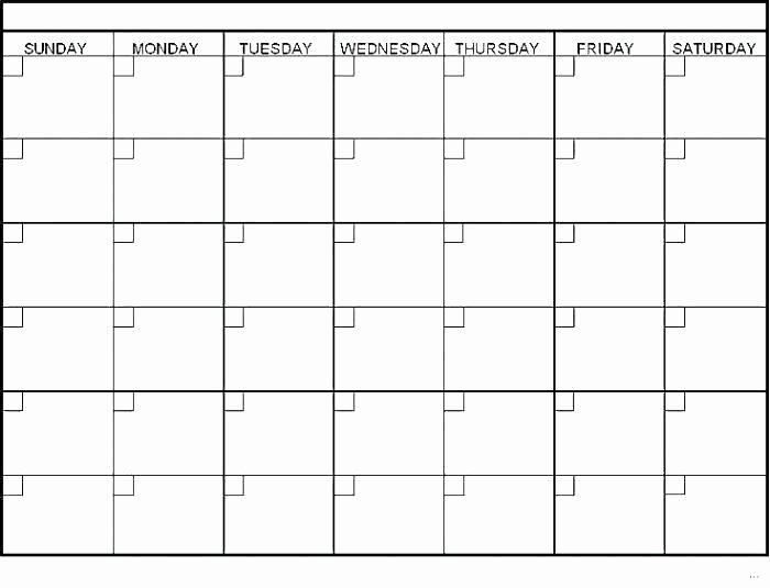 Blank Monthly Calendar Template Calendars