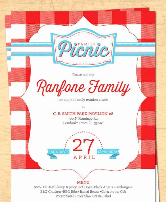 Blank Picnic Invitation Template Templates Resume