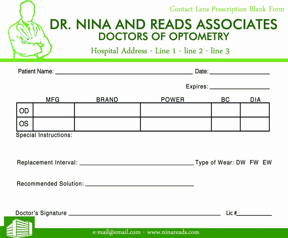 Blank Prescription Pad Image Sample