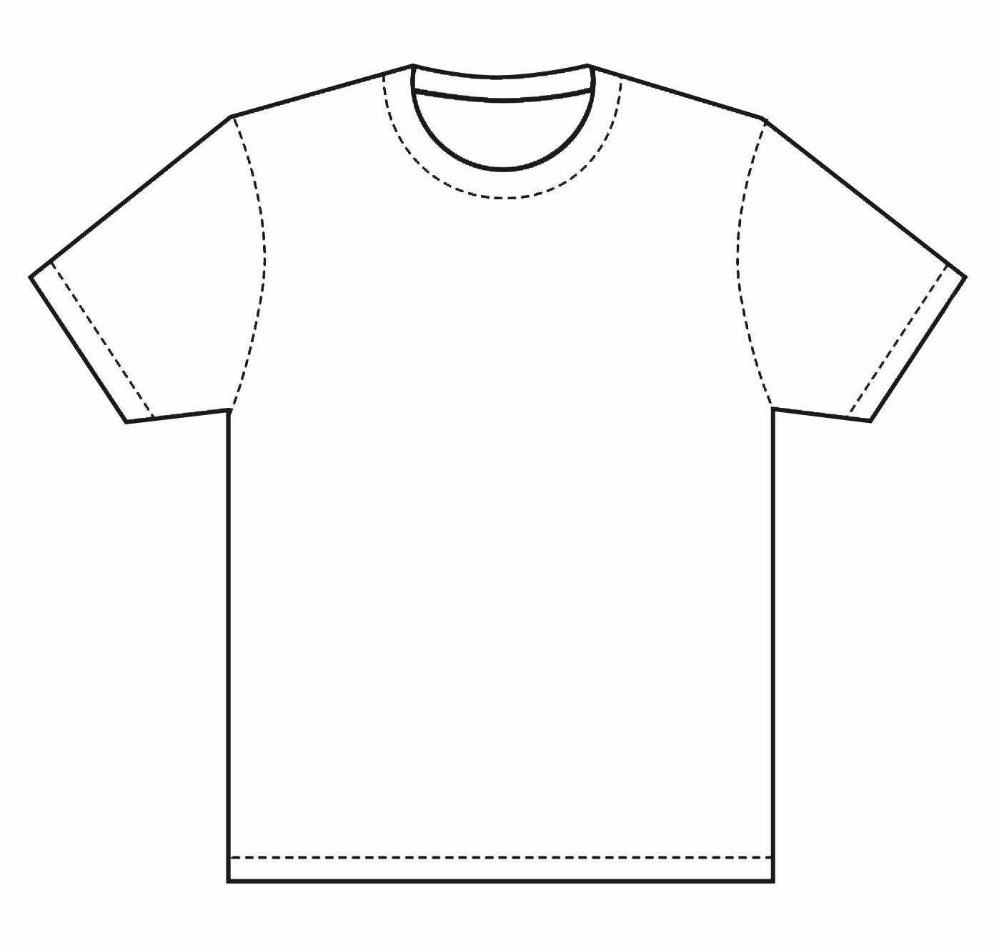 Blank T Shirt Coloring Page thekindproject