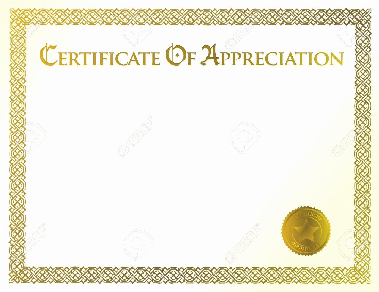Blank Vector Awards Certificate Appreciation