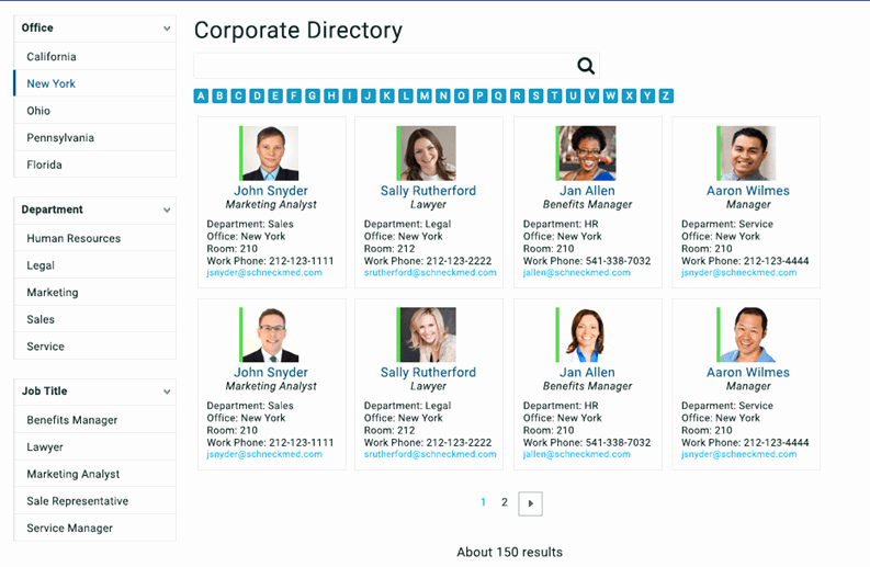 Build A Corporate Directory with Point Search Gate