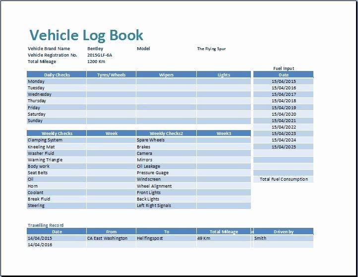 Car Maintenance Checklist Spreadsheet