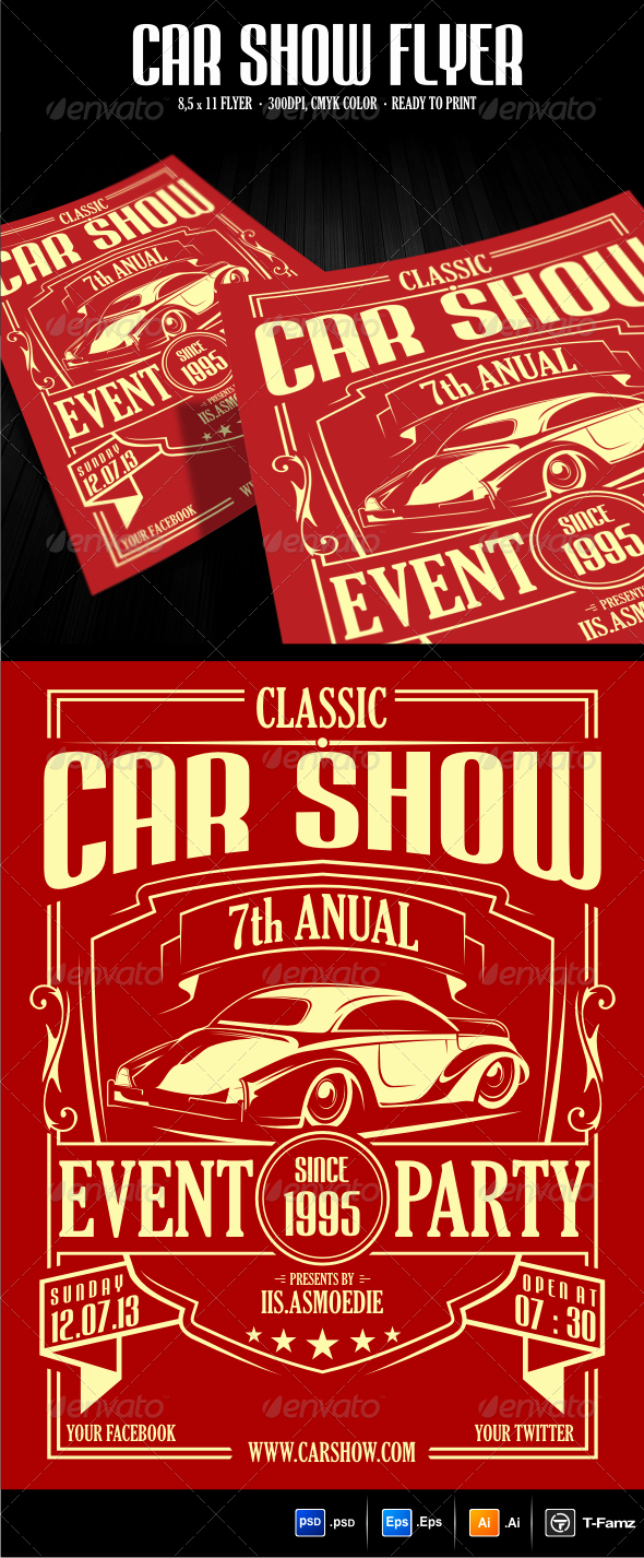 Car Show Flyer Template by T Famz