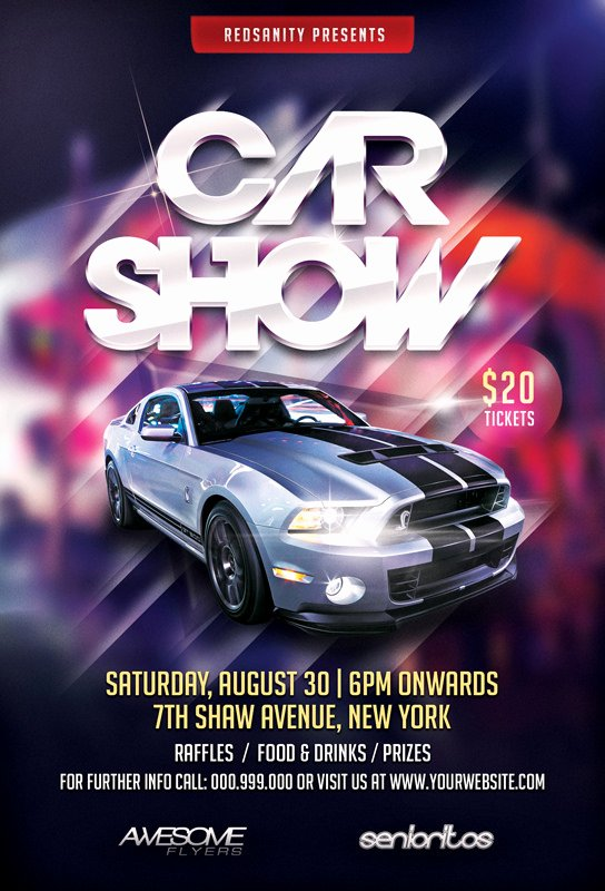 Car Show Flyer Template Psd Free Driverlayer Search Engine