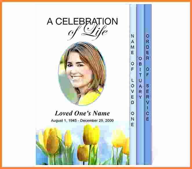 Celebration Life Template Funeral Program Templates