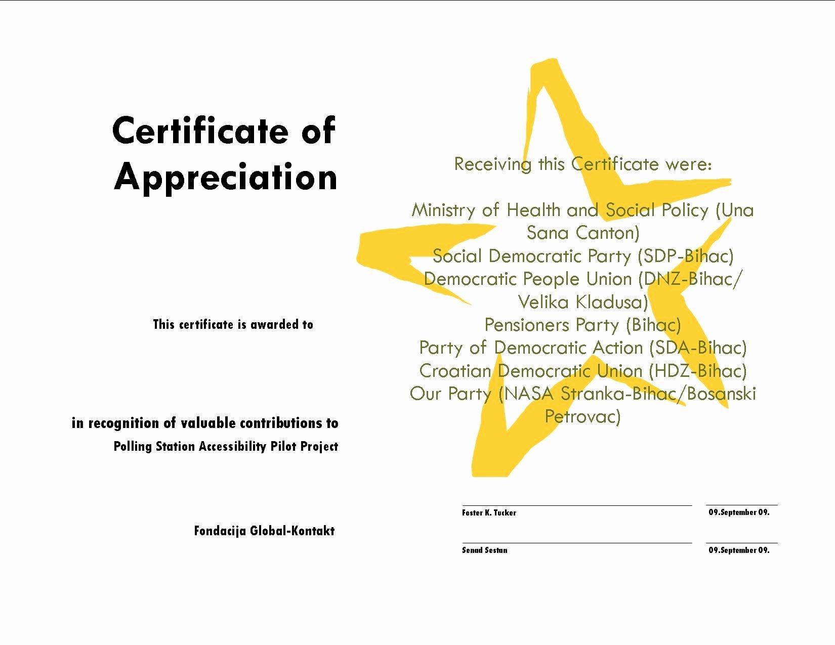 Certificate Appreciation Quotes Quotesgram
