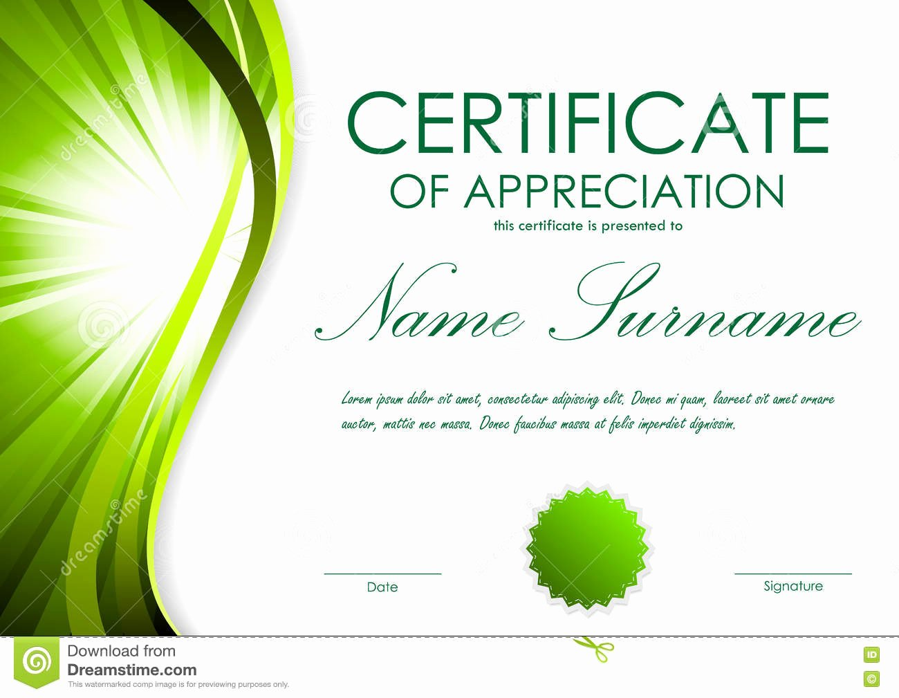 Certificate Certificate Appreciation Template