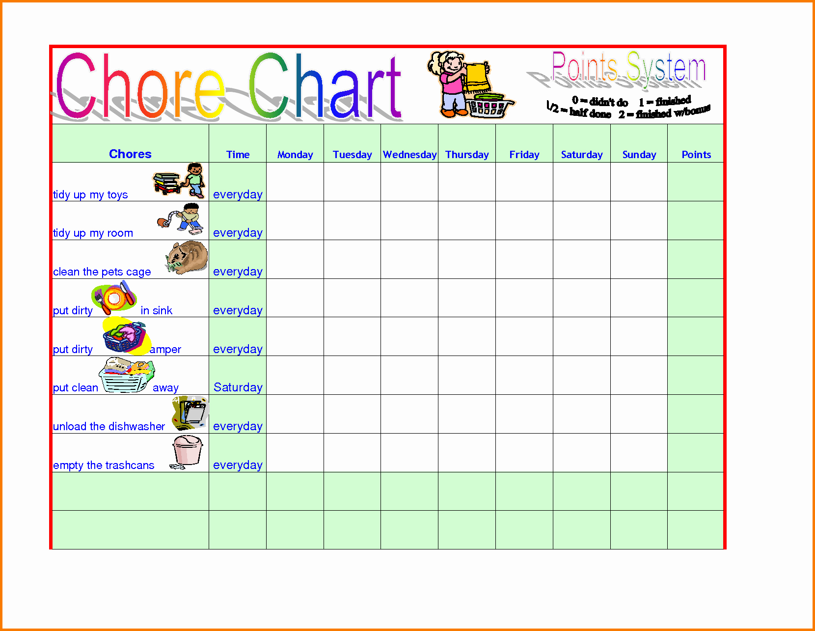 Chore Template