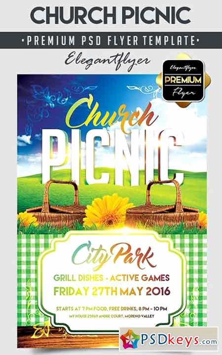 Church Picnic – Flyer Psd Template Cover Free