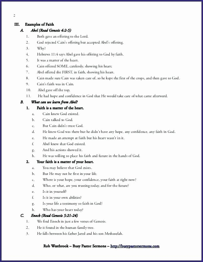 Church Sermon Outline Template Example Sample Meaning In
