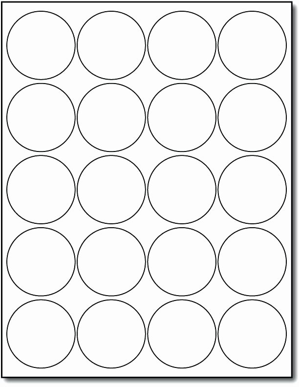 Circle Tag Template for Labels Example Round Sticker Hang