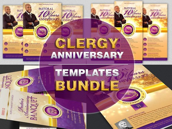 Clergy Anniversary Templates Bundle Templates Creative