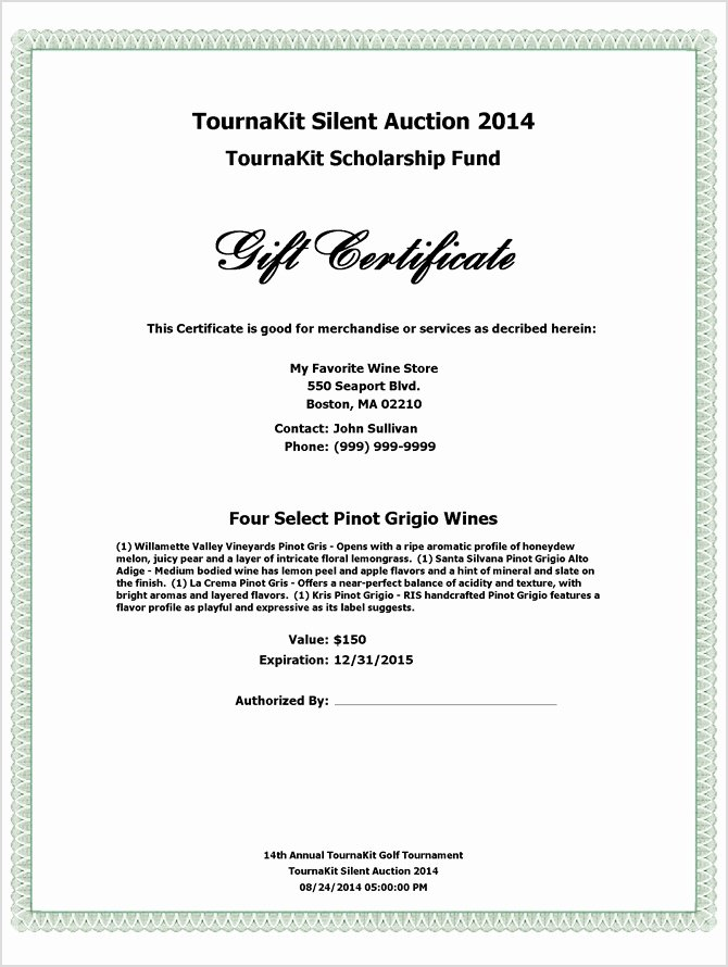 Collection Of solutions for Silent Auction Certificate