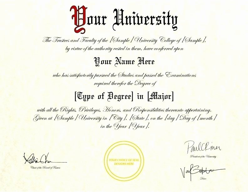 College Degree Template Free Free Diploma Templates