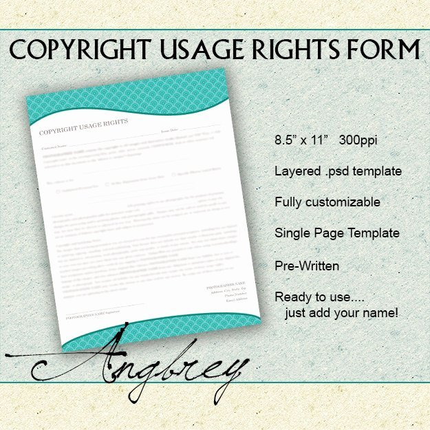 Copyright Usage Rights form for Graphers Print Release