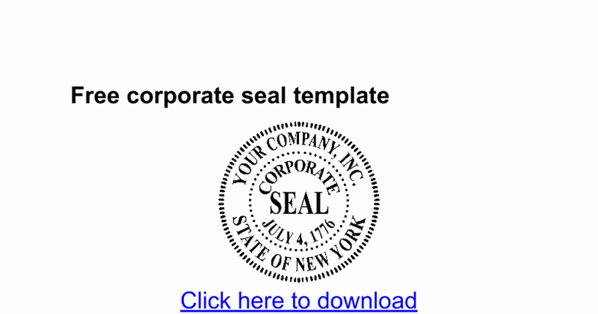 Corporate Seal Template Bn9hbwiijrq0fjsp C2yjeroi2