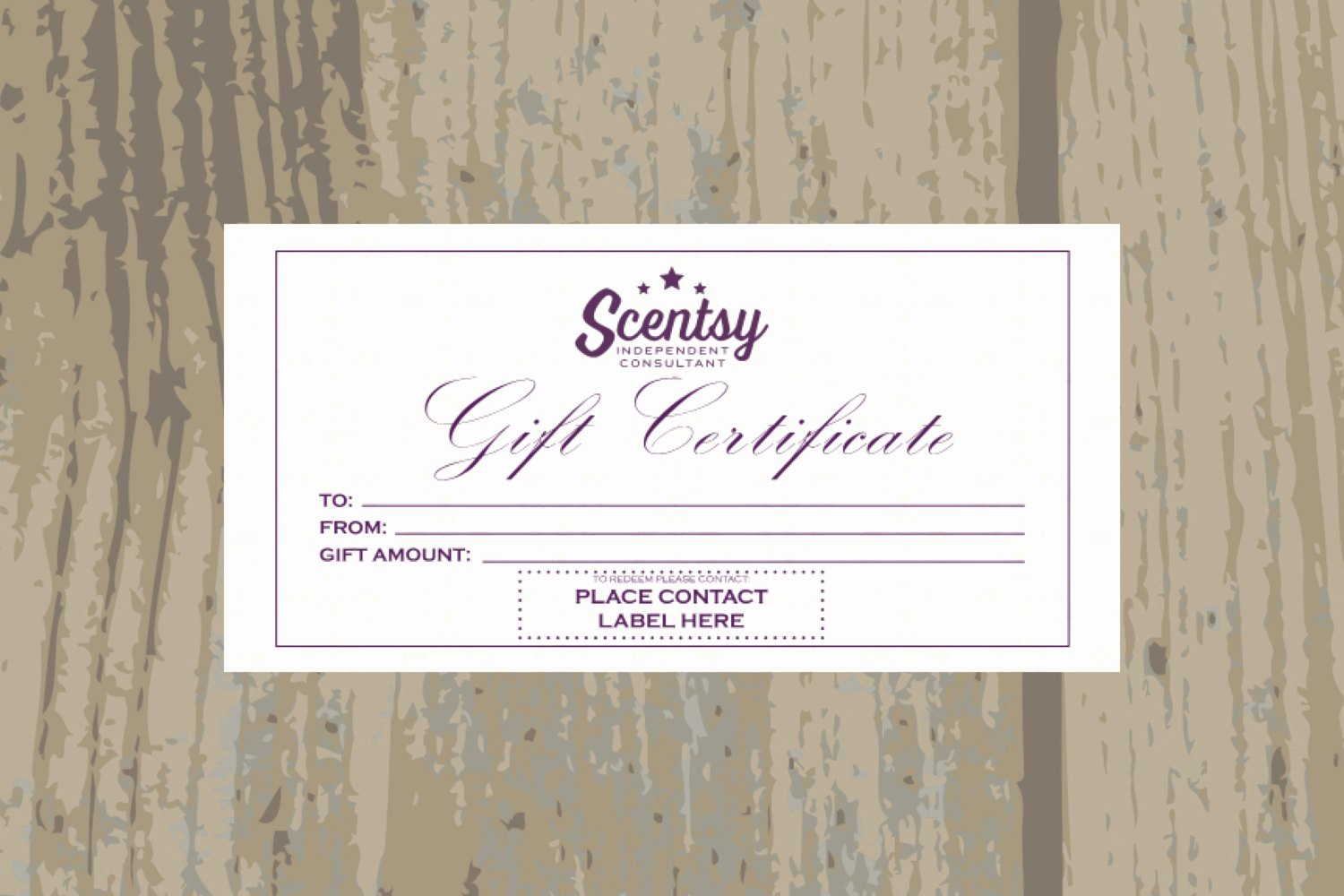 Create Your Own Gift Certificate