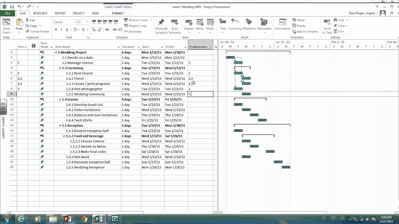 Creating A Network Diagram In Ms Project