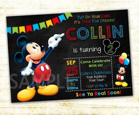 Custom Mickey Mouse Invitation – orderecigsjuicefo