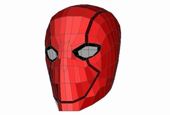 Dc Ics Red Hood Helmet Ver 4 Free Papercraft Download