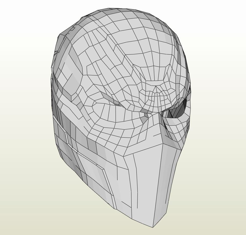 Deathstroke Helmet Pepakura Related Keywords Deathstroke