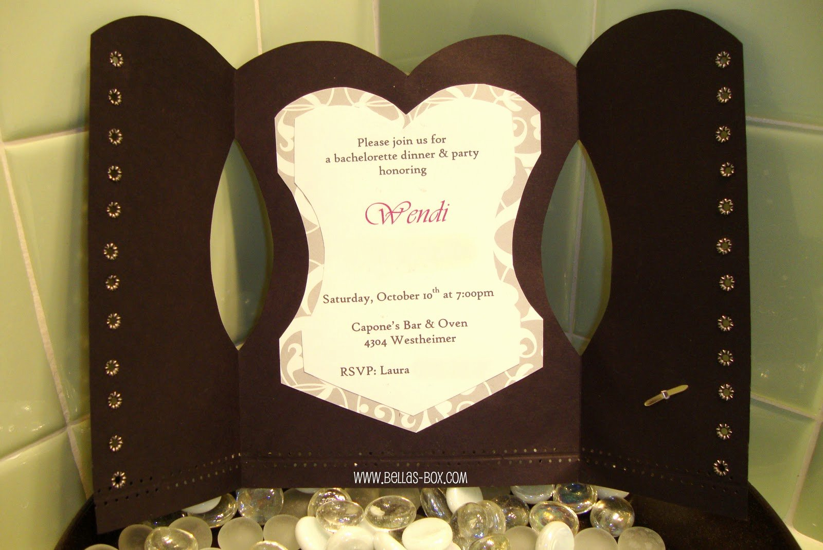 Diy Corset Invitations Template