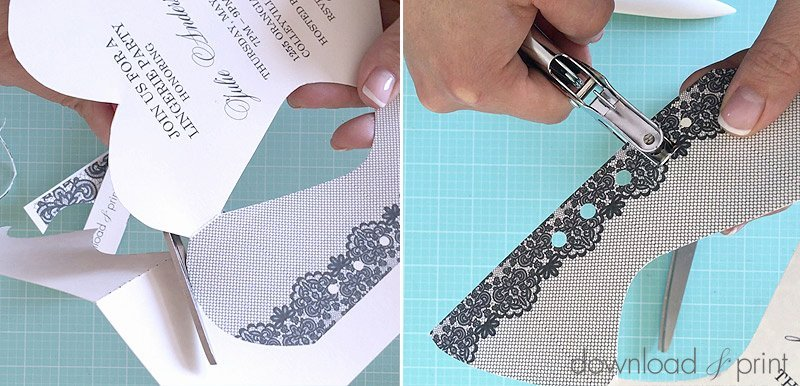 lace up corset invitation