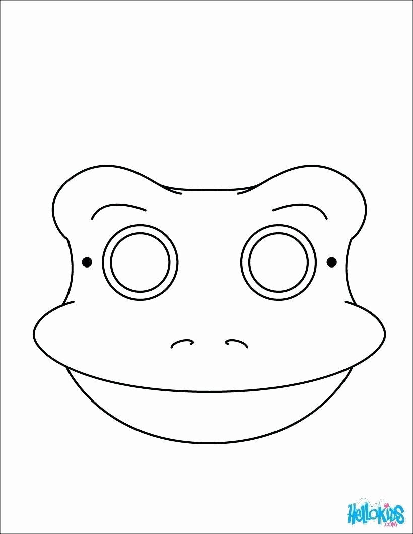Dog Mask Template for Kids