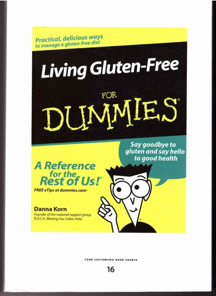 Donna Korn Living Gluten Free for Dummies Large Print