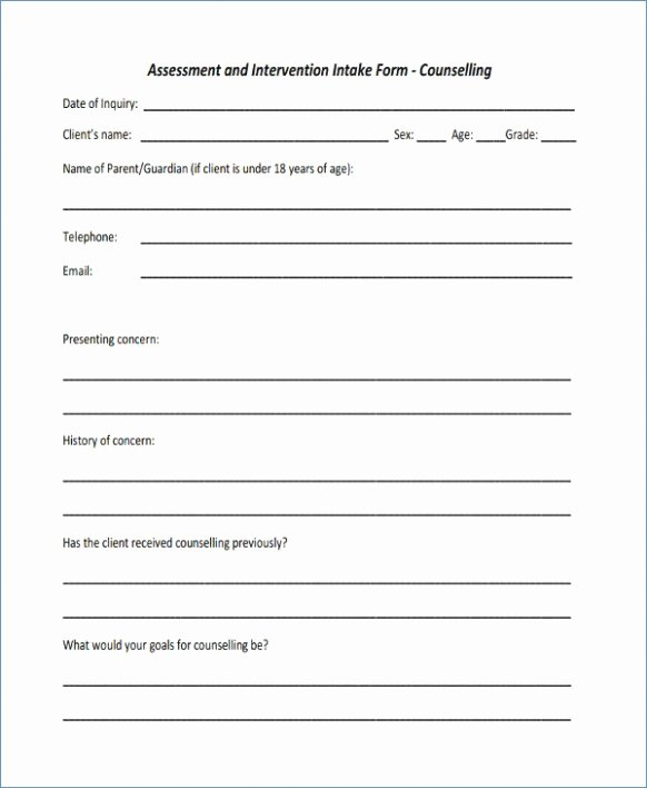 Download Counselling Consent form Template – top Template