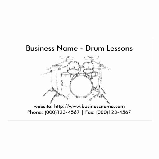 Drum Business Card Templates Page4