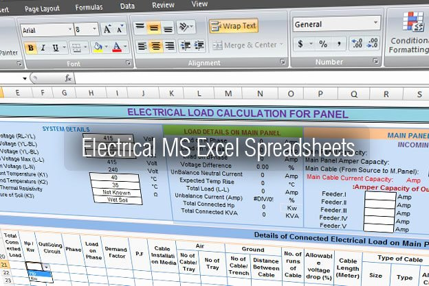 Electronics Club Electrical tools Ms Excel Spreadsheets