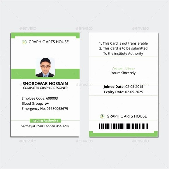 Employee Id Card Template Psd Free Download Icebergcoworking