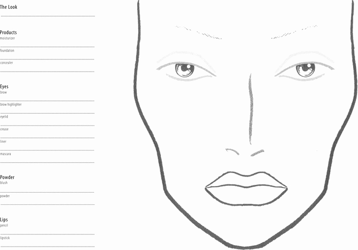 Face Chart Template Free Download