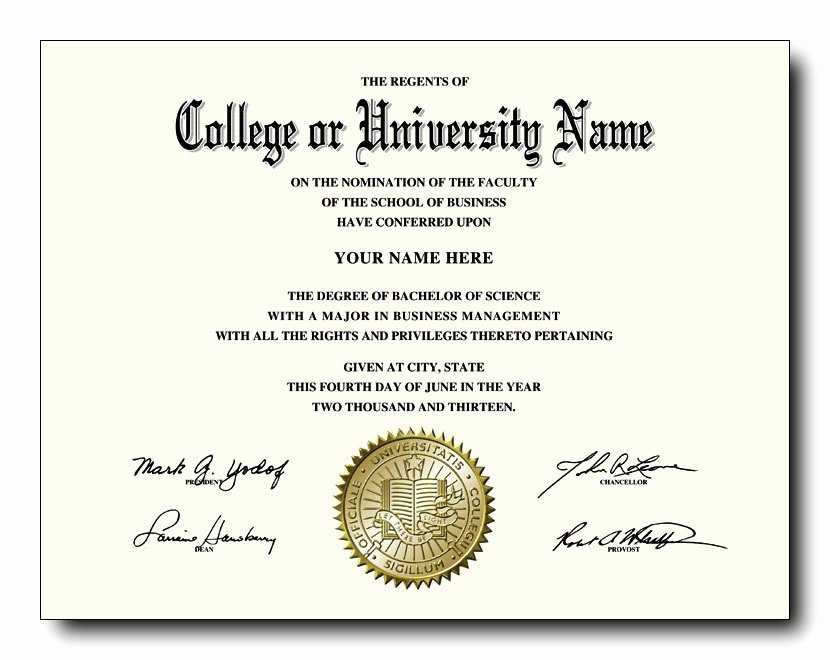 Fake College and University Diplomas Starting at Only $59