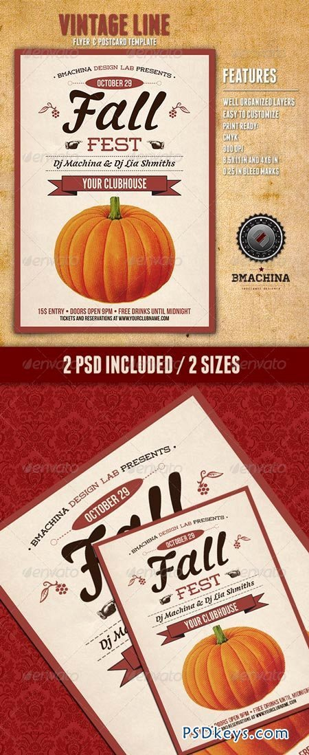 Fall Fest Flyers Free Download Shop Vector