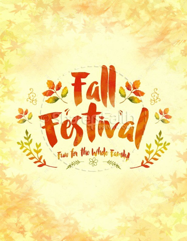 Fall Festival Family Fun Religious Flyer