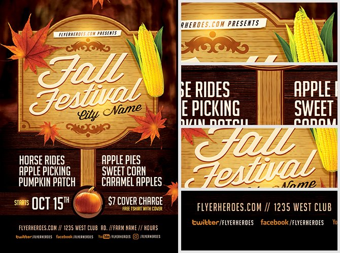Fall Festival Flyer Template 3 Flyerheroes
