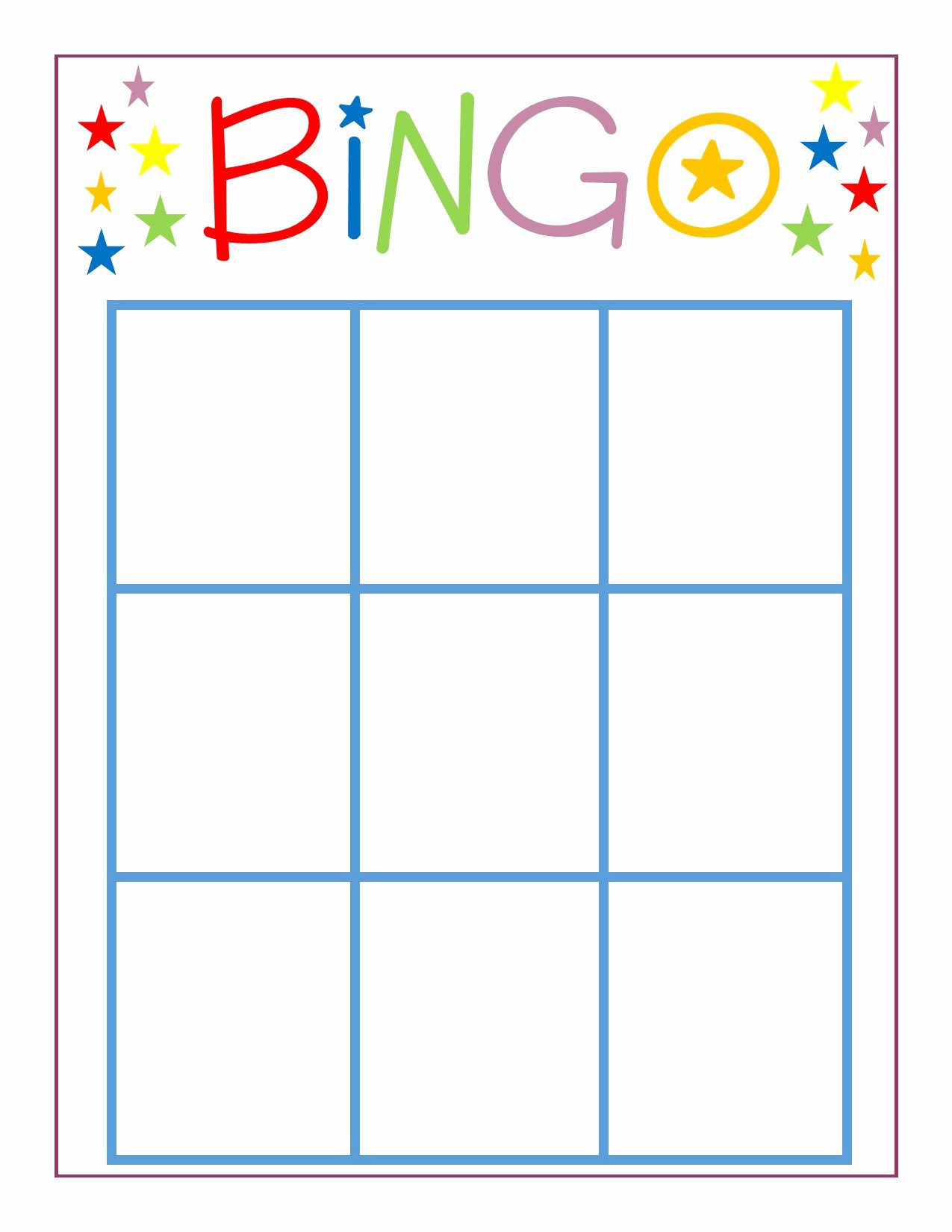 Family Game Night Bingo