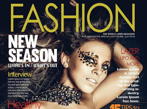 Fashion Magazine Cover Psd Template – Graphicloads