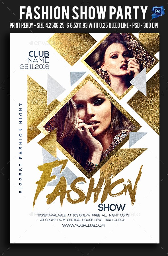 Fashion Show Party Flyer by Sparkg