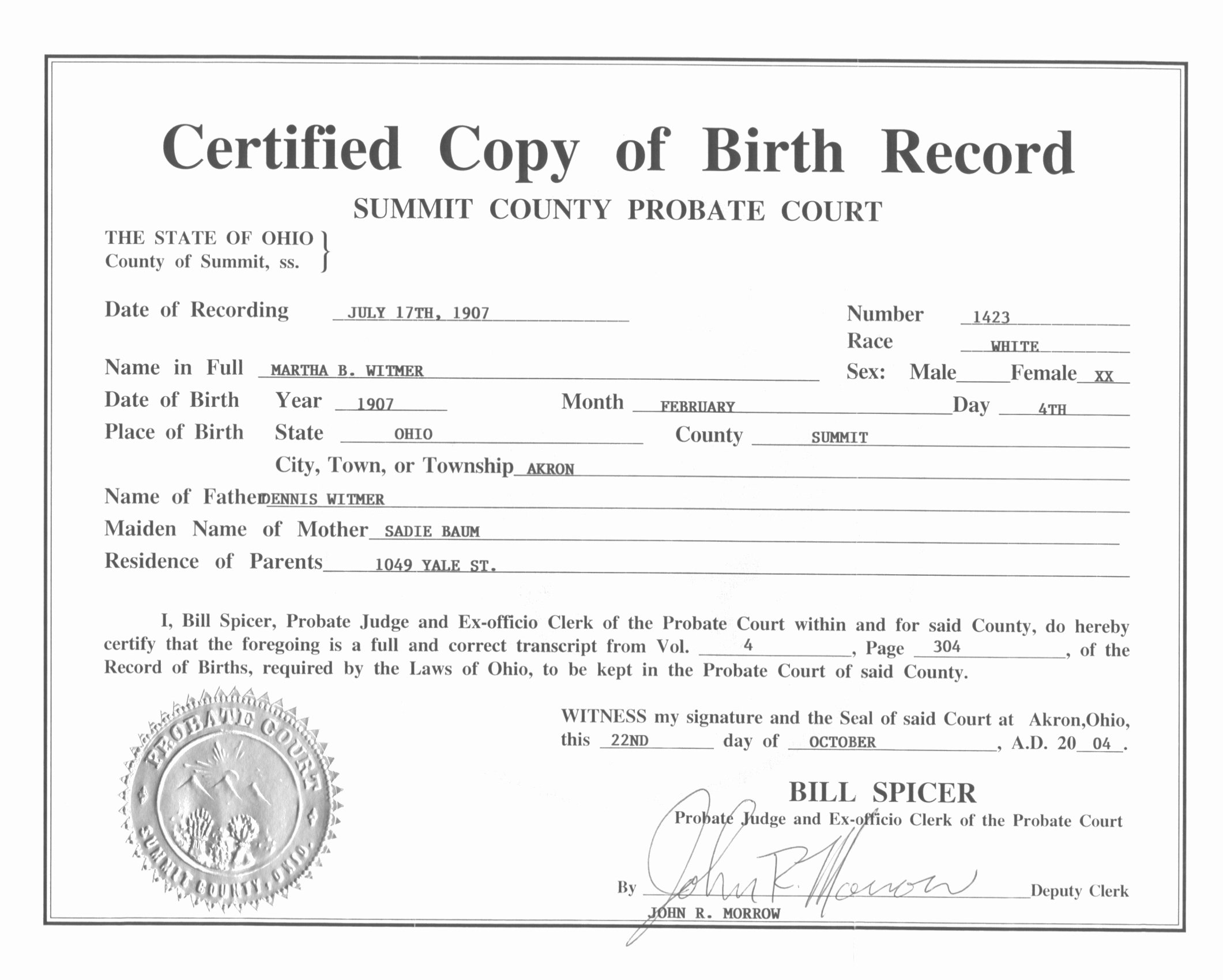 Ficial Birth Certificate Template Bamboodownunder