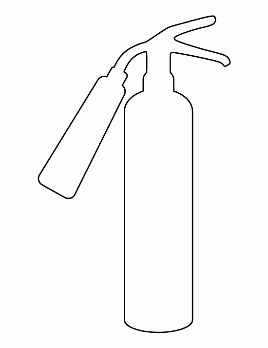 Fire Extinguisher Pattern Use the Printable Outline for