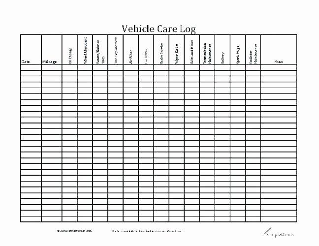 Fleet Vehicle Maintenance Excel Template – Skincense