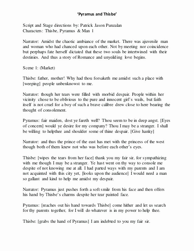 Format for Play Stage Script Template Example – Clntfrd