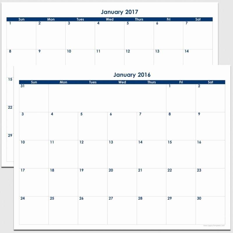 Free 2016 Blank Calendars to Print 8 12 X 11 Free